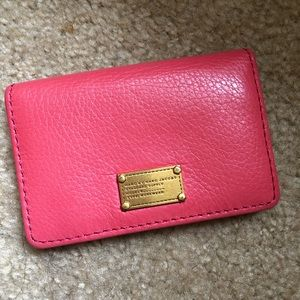 Marc by Marc Jacobs coral pink cardholder